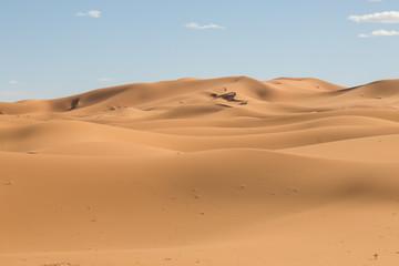 sand dunes in the desert in Merzouga