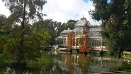 Cristal Palace in the Retiro Park, Madrid, Spain