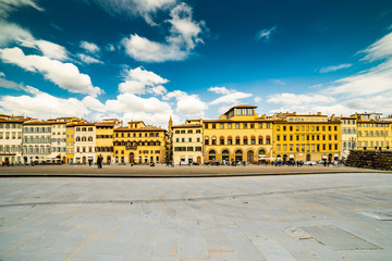 Buildings on square in Florence