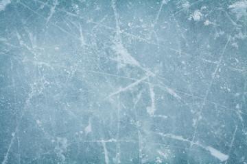 Lodowego hokeja lodowiska tło lub tekstura, makro-, odgórny widok