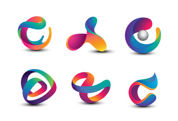 Abstract Colorful Logo Design Elements