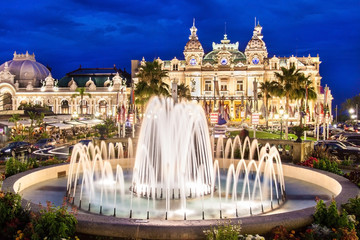 The Monte Carlo Casino, gambling and entertainment complex located in Monte Carlo, Monaco, Cote de Azul, France, Europe.