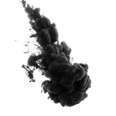 Abstract acrylic black paint