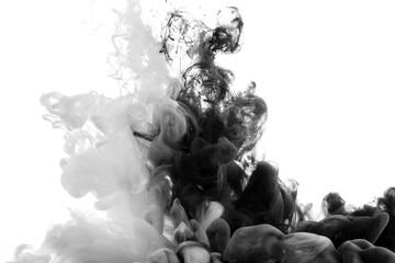 Streszczenie akrylowa farba czarno-biała