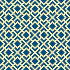 Abstract Seamless Geometric Art Deco Lattice Vector Pattern