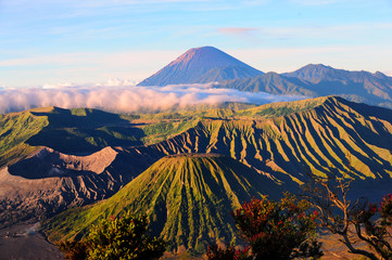 Mount Bromo Volcano in Tengger Semeru National Park at sunrise, East Java, Indonesia