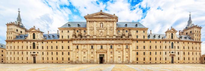 Facade of Royal Monastery Escorial (1584) near Madrid, Spain