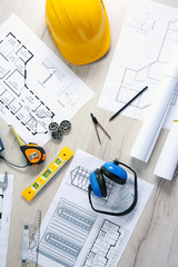 Project drawings and tools, top view