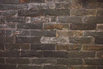 black gray brick wall texture background