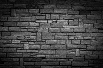 Steinmauer Hintergrundgrafik, schwarz weiß mit Vignettierung