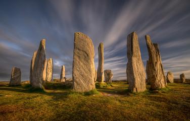 Callanish henge on Isle of Lewis, Scotland