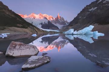 Mount Torre (Fitz Roy) at sunrise. Los Glaciares National Park,
