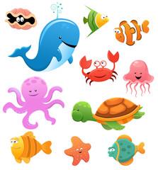 Sea Animals Illustration