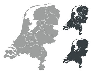 Detalied Netherlands map