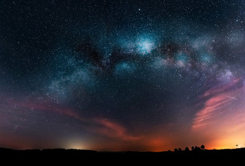 Milky Way galaxy and night sky with stars