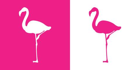 Icono plano flamingo con color rosa