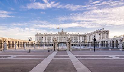 View at the Royal Palace of Madrid