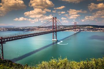 The 25 de Abril Bridge is a bridge connecting the city of Lisbon