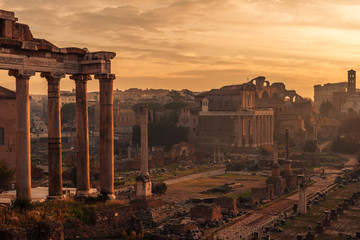 Rome, Italy: The Roman Forum. Old Town of the city