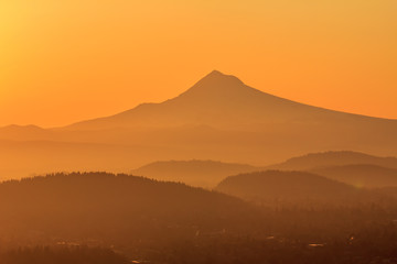 sunrise of mountain