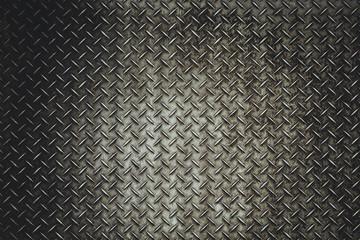Tylnego Grunge podłogowego talerza stalowy tło w vitage świetle