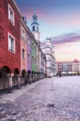 Main market square in Poznan, Poland