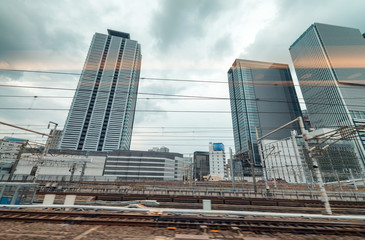 Nagoya cityscape from central station, Japan