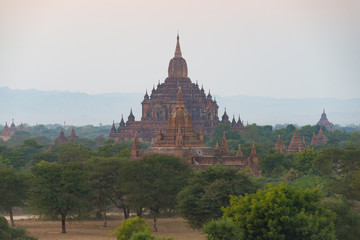 Pagodas at bagan , Myanmar