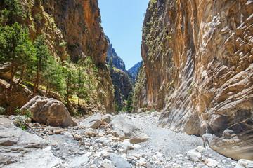 Samaria Gorge on Crete, Grece