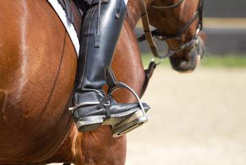 Jockey riding boots