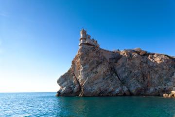 well-known castle Swallow's Nest near Yalta in Crimea