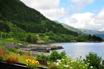 Norwegian coast geirangerfjord