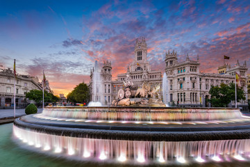 Madrid Spain Fountain and Palace