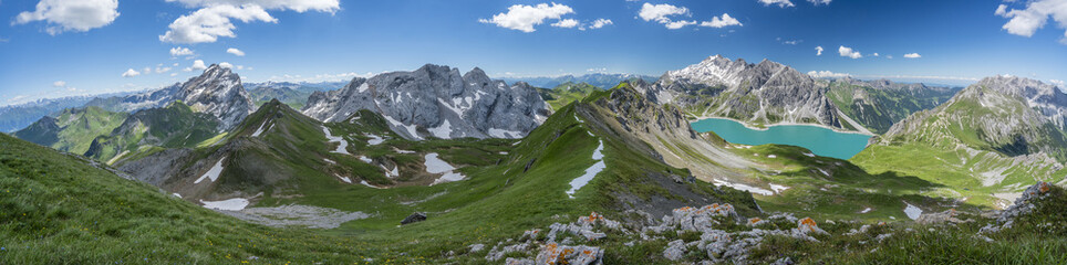Sommer Bergpanorama