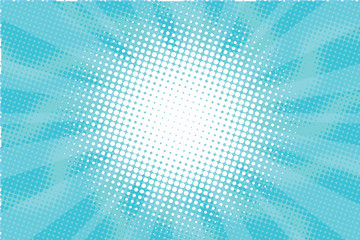 Blue Sunny haze pop art retro vector background