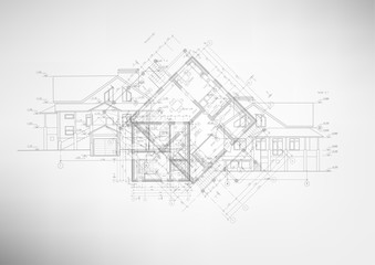 Abstract architectural drawings.