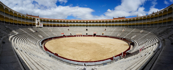 Inside Plaza de Toros de las Ventas in Madrid