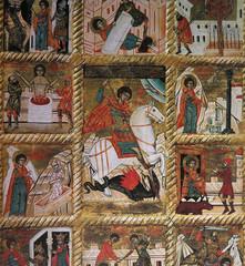 byzantine icon in Mirozhsky Monastery, Pskov, Russia