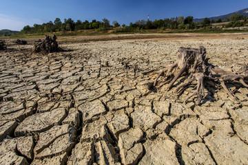 Droughted lake Vogrscek