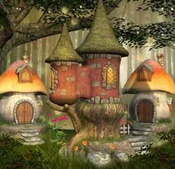 Fantasy elves village
