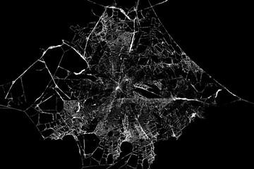 Abstrakcjonistyczny Spiderweb na czarnym tle
