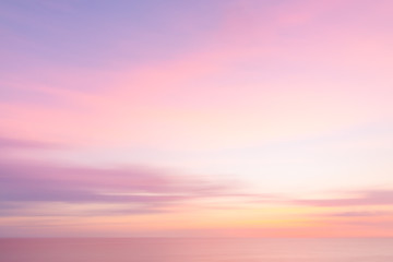 Blurred  sunset sky and ocean nature background