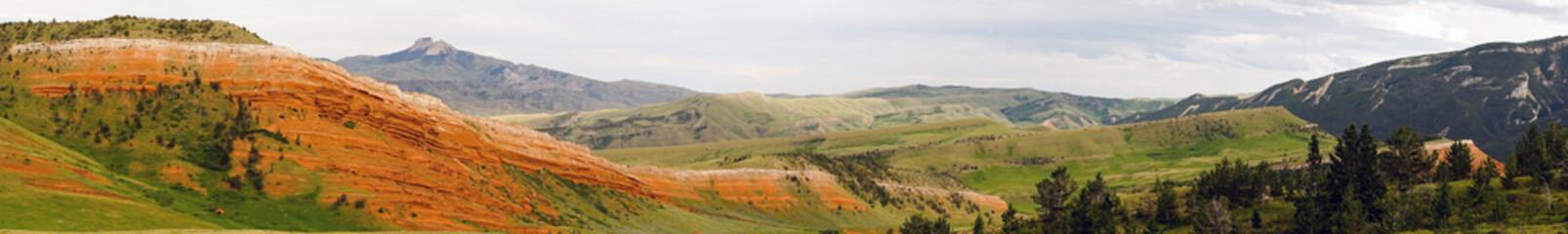 Kolorowy krajobraz Yellowstone park narodowy Wyoming Stany Zjednoczone