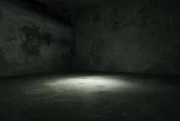 Dark room empty.