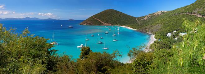 Tropical shoreline in British Virgin Island (BVI), Caribbean
