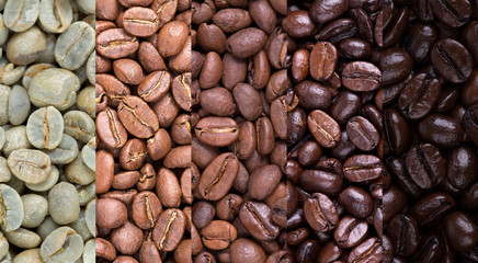 Coffee bean collage