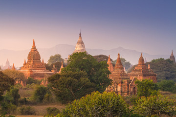 Temples of Bagan during sunrise, Myanmar