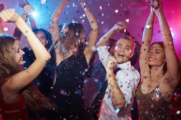 Dancing in club