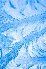 Mozaika malowana przez mróz - (naturalna tekstura na oknie)