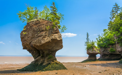 Hopewell Rocks - Located on the Bay of Fundy, New Brunswick, Canada.